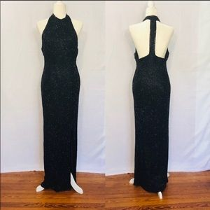 Incredible Fully Beaded SCALA Gown Size L